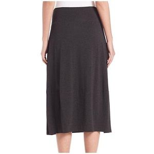 Eileen Fisher Gray Soft Linen A Line Skirt Size XS